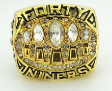 Free shipping 1994 San Francisco 49ers Super Bowl Replica Championship Rings Size 11(China)