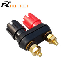 Speaker banana plug BINDING POST terminal connector banana socket Dual Female Banana Plug for Speaker Amplifier 1pc(China)