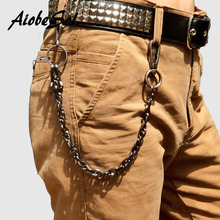 Fashion Punk Hip-hop Trendy Belt Waist Chain Male Pants Chain Hot Women Men Jeans Alloy For Clothing Accessories Gift 1PC
