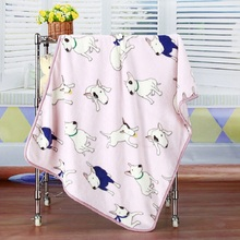 100*75/150*200cm Bedding Quilt Soft Warm Coral Fleece Air Conditioning Throw Blanket Cover for Children Adult couverture polaire