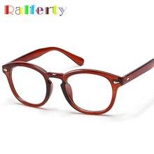 08b440aa7da57 Ralferty Vidros Ópticos Quadro Marca Retro Johnny Depp Vintage Óculos  Oliver Peoples Armações de Óculos Das Mulheres Dos Homens .