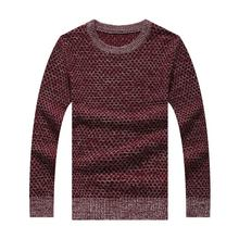 Man Kntwear 2016 Hot Sale Direct Selling Casual O-neck Pullover High Quality Cotton Male Long Sleeve Round Neck Men Sweater