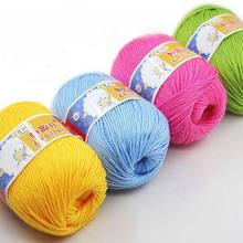 (50g/ball) Knitting Yarn Natural Soft Cashmere Yarn Cotton Yarn High Quality Baby Wool Yarn For Hand Knitting(China)