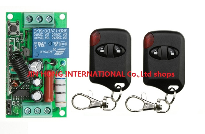 New 220V 1channel latching relay With learnng button wireless remote switch control  automation for doors @  cat eye Transmitter<br><br>Aliexpress