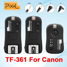 Pixel Pawn TF-361 Wireless Remote Control Shutter Release 1pcs Transmitter 2pcs Receiver For Canon EOS 7D 40D 30D 20D 10D 750D