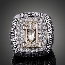 1993 FSU Ring,Florida State University Orange Bowl ACC Champs Rings,Abrrham Ring, FSU : NEB 18:16(China)
