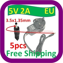 5 pcs Free Shipping UK DC to AC 3.5x1.35mm 5V 2A Power Supply adapter for tablet PC MID Notebook