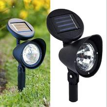 Adjustable Solar Spot Light 3 LED Landscape Garden Green Lawn Path Lamp Outdoor L15(China)