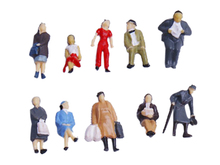 Whoelsale Mini 24pcs Painted Model Train People Figures Scale HO (1 to 87) Passenger Model Building Kits Great Collectibles