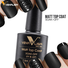 #61507 2017 CANNI New Brand VENALISA 7.5ml Soak off UV LED Nail Gel Polish Matt Matte Top Coat 12ml Base Coat Top Coat