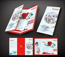 Customized Three-leaf Panel Fold Brochure/Flyer Printing Advertising leaflets Colorful paper printing, whatapp +86 186 5826 6007(China)