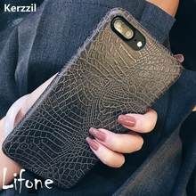 Kerzzil Vintage Crocodile Snake Printed Soft Case For iPhone 7 6 6S Plus PU Leather Back Cover For iPhone 6 7 6S Capa Coque(China)