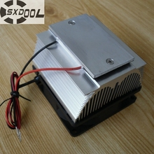 SXDOOL Cooling!DIY Peltier Air condition refrigeration plate TEC12706AJ 12V Cooling fan(China)