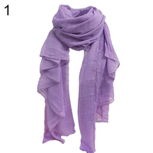 Hijab Scarf Shawl 2017  Fashions Women's Fashion Long Cotton Linen  Scarf Shawl Solid Color Stole Pashmina  Gifts 9TL2