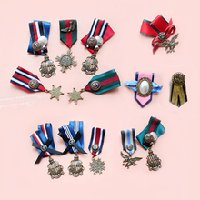 British Style 12 Styles /Lot School Uniform Retro Badge Medal Army Men / Women  Wholesale Price Student Brooches   Free Shipping