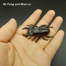 Lifelike Model Simulation Fake Insect Beetle Toy Kid Teaching Prop