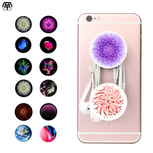 Beautiful Flower Socket 15 Colour Woman's Pop Smartphone Finger Ring Mobilephone Holder Round Tablet Desk Mount Stand Sockets(China)
