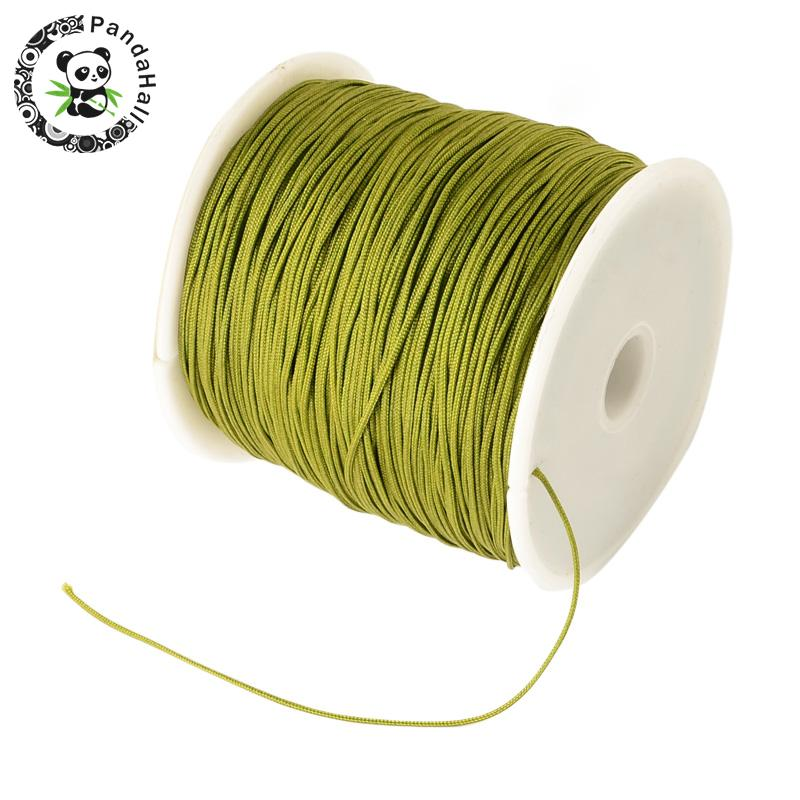 0.8mm 90m/roll Nylon Thread Cord For Bracelets Beading Necklace Jewelry DIY Accessories Making 16