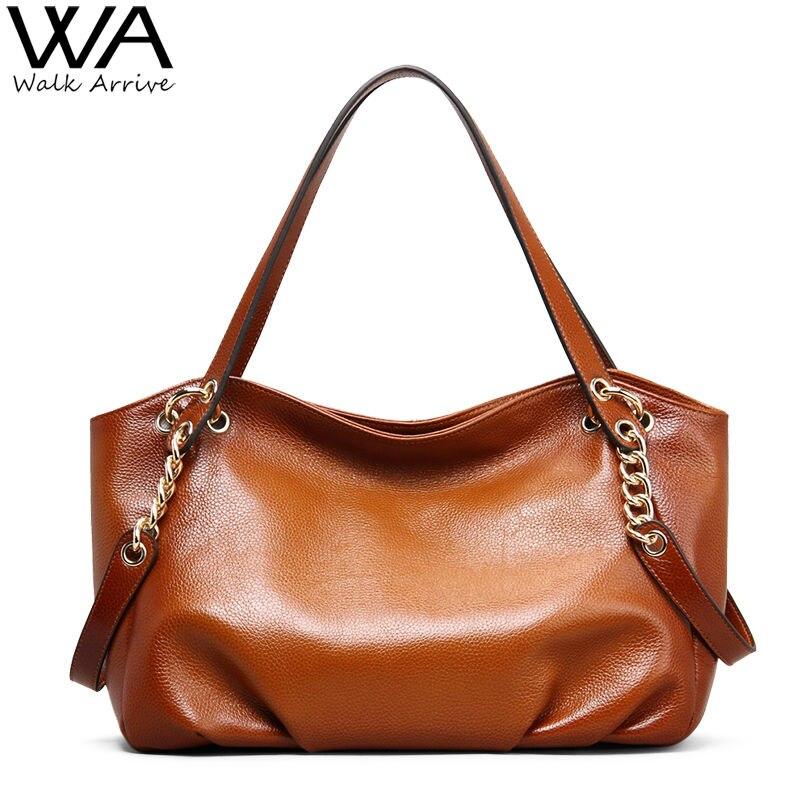 Walk Arrive Vintage Genuine Leather Handbag Women Shoulder Brand Designer Retro Style Female Chain Bag Cowhide Purse <br><br>Aliexpress