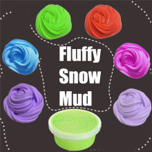 Fluffy Snow Mud Colorful Color Random Kids Sludge Toy No Boraxing Stress Relief Clay Silly Putty Educational Soft Play Dough(China)