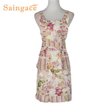 Saingace Bib Cooking Aprons With Pocket Women Lady Restaurant Home Kitchen quality first H6