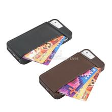 1pcs Wallet Flip PU Leather Case Cover Skin Protector For Apple for iPhone 5 5S Black/Brown