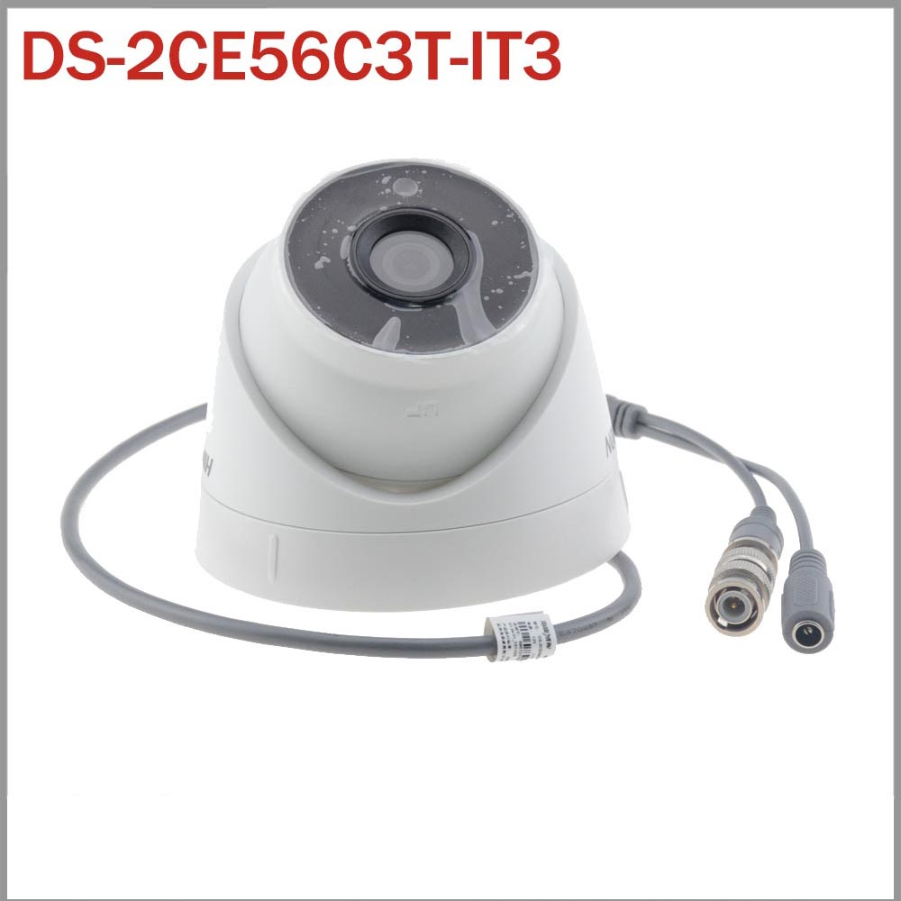 DS-2CE56C3T-IT3 HD 720P 1.3MP Turret HDTVI Camera  EXIR IP66 Weatherproof  CMOS CCTV Camera  with 40m IR Range<br><br>Aliexpress