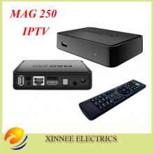 Best Linux mag250 IPTV box , Set Top Box support Wifi usb connector, Cable Not include IPTV account,mag 250 support update