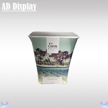 Trade Show Booth Tension Fabric Square Bar Counter Display With Full Color Banner Printing,Durable Podium Promotion Table(China)