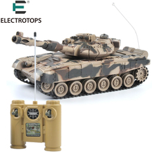 ET 99802 RC Tank 1/20 9CH 27Mhz Infrared RC Battle Tiger T90 Tank Cannon & Emmagee Remote Control Tank Fort Rotate Fighting Tank(China)