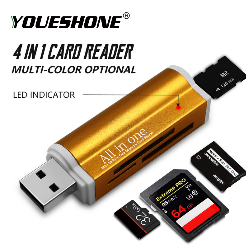 All-In-1 Reader-Adapter Memory-Card Duo-Card-Reader MMC Micro-Sd High-Quality Multi  title=