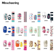 1pcs New Adhesive Nail Sticker Decals Cartoon FlowersFull Cover Nail Foil Polish Patch,Manicure Nail Art Decoration(China)