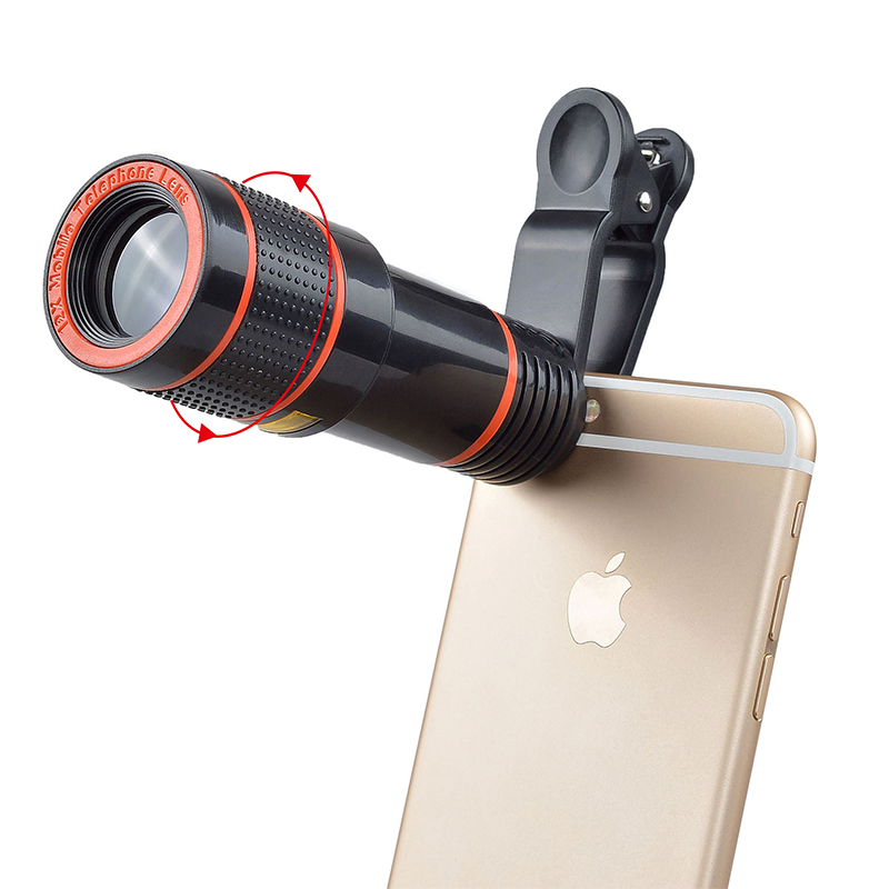 17 12X Zoom Phone lens Universal Telephoto Camera Lens with tripod holder for iPhone Samsung Xiaomi HTC HUAWEI lens APL-HS12X 10