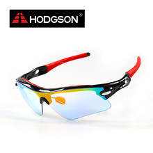 HODGSON Cyling Eyewear Women 2017 Black Red Sports Sunglasses Men UV400 Cycling Sunglasses Comfortable Nose Pad Adjustable 1011(China)
