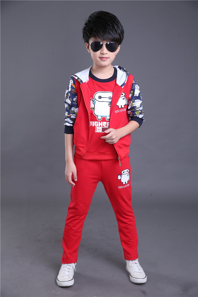 Fashion high quality china brand children fall and winter sportwear 3 pcs sport set kids tracksuits sport suits<br>