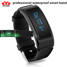 In Stock Bluetooth 4.0 Smart Bracelet Watch Heart Rate Monitor IP68 Waterproof Swimming Sports Tracker Anti-lost for Android iOS