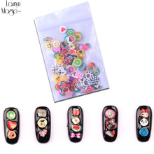 Nouveau 100 pcs/pack Nail Art 3D Fruits Fimo Tranches D'argile de Polymère DIY Slice Décoration Nail Sticker Mixte Stype