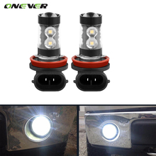 2pcs 12V H10 50w 6000K Car Fog Light 10-LED 6000K Xenon White DRL Lamp Super White Halogen Xenon Car Auto Head Lamp Car Styling