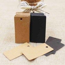 Size:4x2cm paper cardboard black/ kraft tags 100PCS /lot for gift box and DIY Gift Tags for Handmade cake
