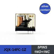 10pcs packing mini relay 5pins JQX-14FC-1Z electric magnetic relay 5A electrical relay 220V LED Voltage