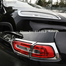 ACCESSORIES FIT FOR 2014 2015 JEEP CHEROKEE 2IN1 CHROME FRONT+REAR HEADLIGHT TAILLIGHT LIGHT LAMP COVER TRIM MOLDING 4PCS/SET(China)