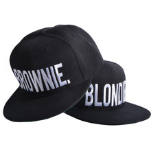 BLONDIE BROWNIE High Quality Embroidery Snapback Hats Cotton Women Gifts Baseball Caps Hip-Hop Adjustable 2 pieces each combo