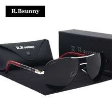 R.Bsunny Aluminum Magnesium Sunglasses Men Polarized Coating Mirror Sun Glasses Male spectacles Accessories For Men R7614 oculos