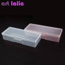 Artlalic 1pcs Plastic Nail Art Jewelry/Studs/Beads/Rhinestones/Brushes Tools Organizer Holder Case Pink/ White Nail Storage Box