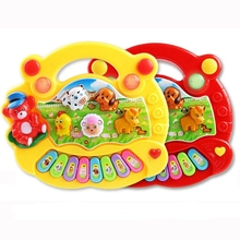 New Baby Kids Smart Animal Farm Mobile Electric Piano Smart Music Toy English Early Educational Toys For Gift