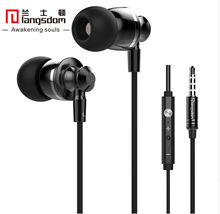 Original Langsdom M300 Metal Super Bass In-ear Earphones Volume Control with Mic Headsets for iphone Sony Xiaomi Mp3 PC 3.5mm