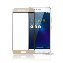 Color Full Cover Screen Protector Tempered Glass For Asus Zenfone 3 Max ZC520TL ZE520KL Zoom ZE553KL Pegasus 3s Max ZC521TL Film(China)