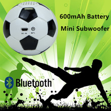 Mini portable PU Leather Football Bluetooth Subwoofer Speaker Strong Bass Home theater audio 600mAh battery capacity display
