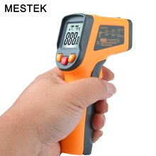 MT380 Laser Digital Infrared Thermometer Temperature Gun Point -50~400 Degree C F selection hygrometer Non Contact Thermometer(China)