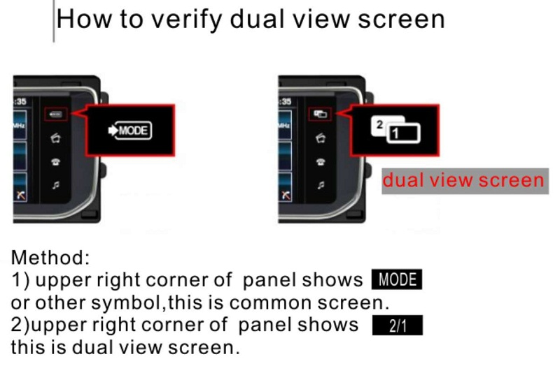 How to verify dual view screen